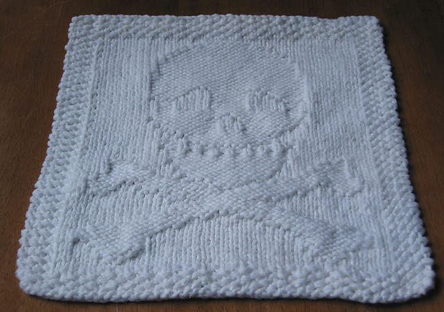 Ravelry Skull And Crossbones Dishcloth Pattern By Miriam Giles