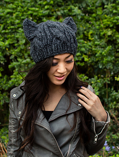 Ravelry  Cabled Cat Ears Hat pattern by Lorna Watt 0ccaea023276