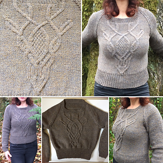 f81142e3d0a1a Deer Skull Cable Sweater pattern by Jacqueline Raffo