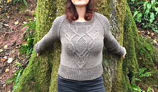 e035b693f233f patterns   Jacqueline Raffo s Ravelry Store.   Deer Skull Cable Sweater