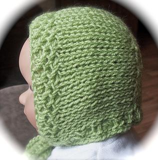 a34a984653d Ravelry  Loom Knit Baby Bonnet pattern by Faith Schmidt