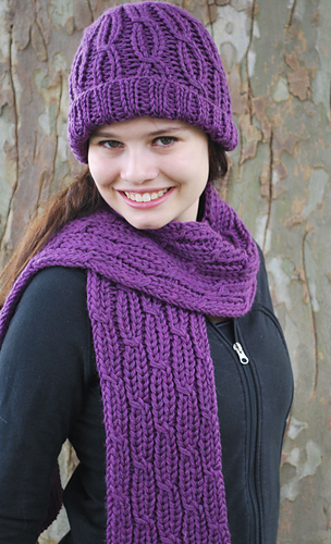Ravelry Loom Knit Cabled Hat And Scarf Pattern By Faith Schmidt