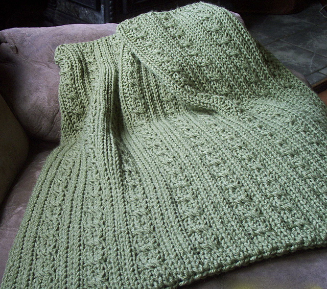 Ravelry Loom Knit Cables And Ribs Baby Blanket Pattern By Faith Schmidt
