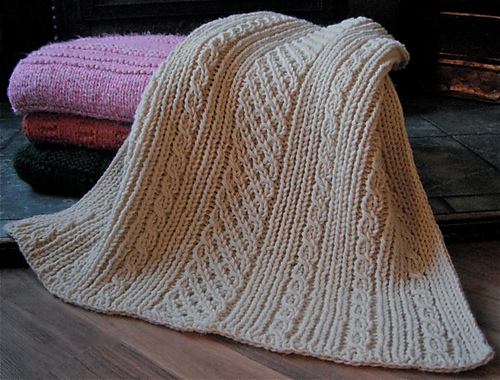 Ravelry Loom Knit Easy Aran Baby Blanket Pattern By Faith Schmidt