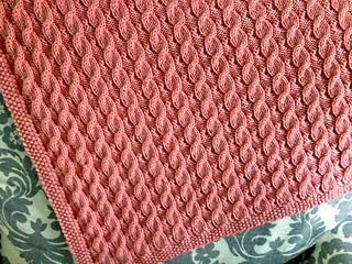 494bb886f5c3 Ravelry  Scarlett s Reversible Cable Baby Blanket pattern by Suzanne ...