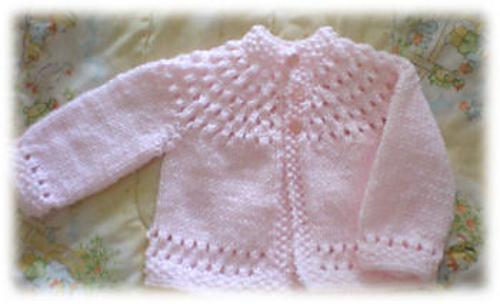 Ravelry Pretty Baby Sweater Pattern By Lisa Vienneau