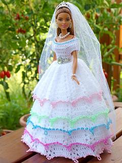 Ravelry Hochzeitskleid Für Kleine Puppen Pattern By Knitwork By Ina