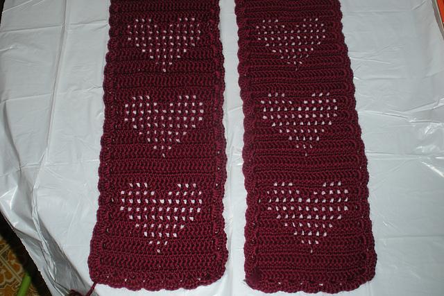 Ravelry Double Crochet Heart Scarf Pattern By Krislyn Simer