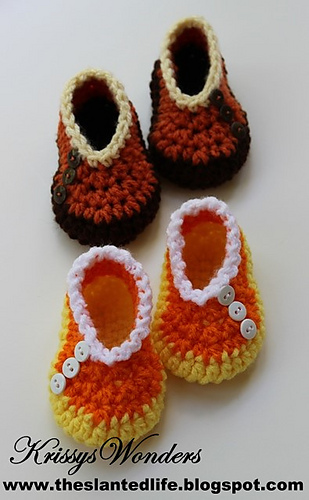 Ravelry: Candy Corn Shoes for Baby pattern by Kris Moore