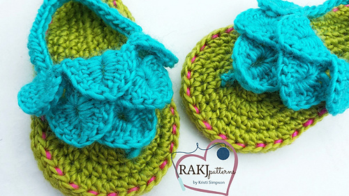 Ravelry Baby Toddler Crocodile Stitch Sandals Pattern By