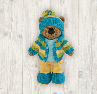 4cc9cce970 Ravelry  Billy Bear with Clothes Crochet + Knitting pattern by Kristine  Kuluka