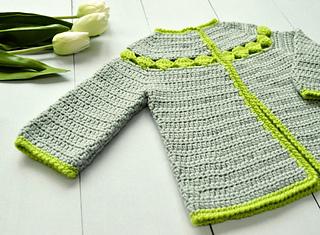 fcc7e9cef Ravelry  Stip Baby Cardigan pattern by Susanne Visch