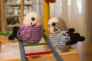 Ravelry: Mini Amigurumi Budgie - colour block pattern by ...