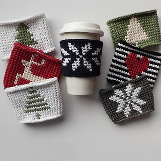 Ravelry Linden Coffee Cozy Pattern By Lakeside Loops