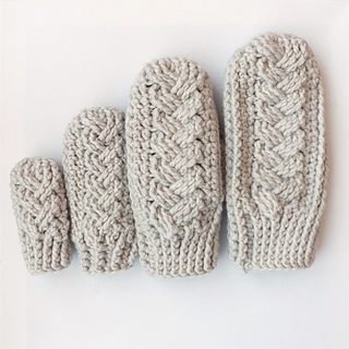 Ravelry Holden Cable Crochet Mittens Pattern By Lakeside