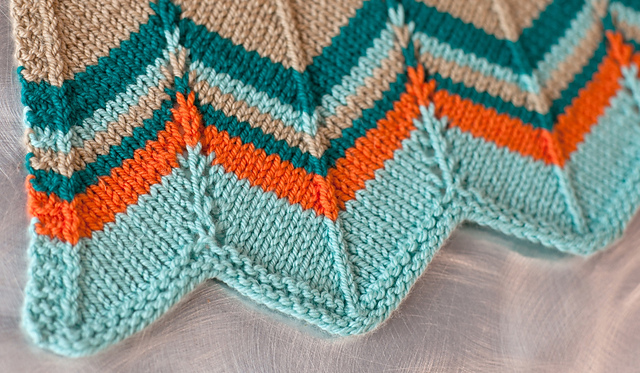 Ravelry: Chevron Stripes Baby Blanket pattern by Cynthia Cushing