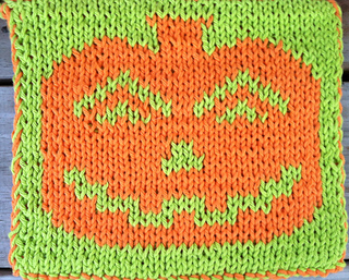 Knit Hot Pad Pattern : Ravelry: Double Knit Pumpkin Hot Pad pattern by Lauras Knits