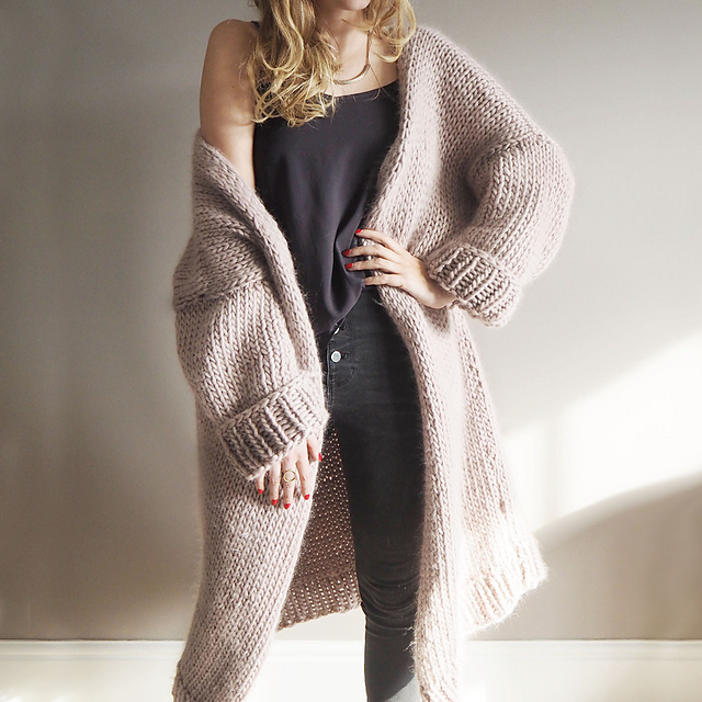 Ravelry Dreamy Oversized Cardigan Pattern By Lauren Aston Designs