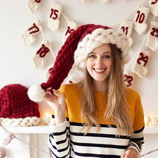 Ravelry  Chunky Santa Hat pattern by Lauren Aston Designs 3c1534e4dd2b