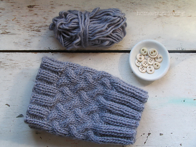 Ravelry Stockinette Cable Boot Cuff Pattern By Debbie Andriulli