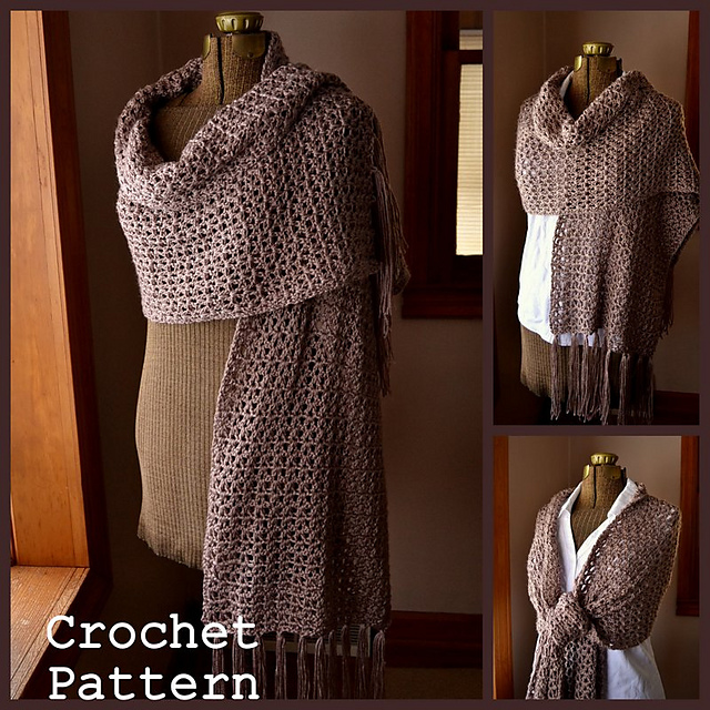 Ravelry Simply Soft Shawl Wrap Pattern By Patricia Hodson