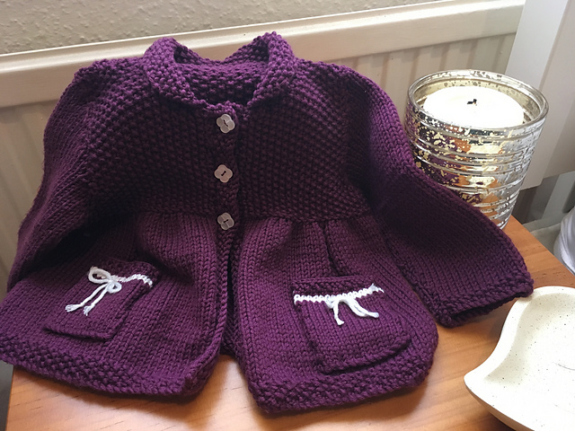 2d67f4638 Ravelry  Baby Modern matinee coat pattern by tracy wright 63