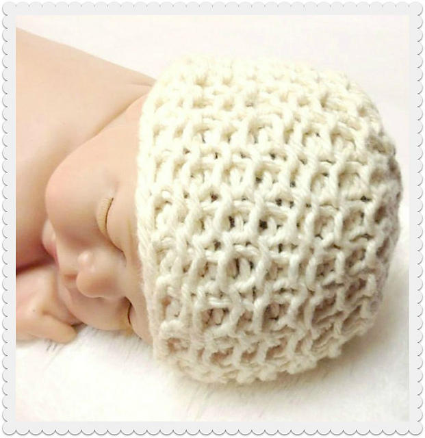 Ravelry Organic Cotton Heirloom Newborn Baby Hat Pattern By Lee