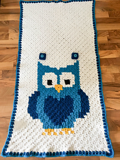 Megan Meyer & Ravelry: Little Owl Car Seat Canopy pattern by Megan Meyer