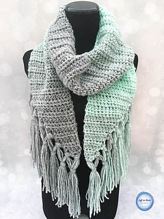Mint-cicle Scarf pattern by Megan Meyer