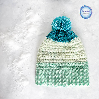 e67f7a6a7 Snow Drops Slouch Hat pattern by Megan Meyer