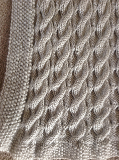 Ravelry Scarlett S Reversible Cable Baby Blanket Pattern By Suzanne