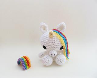 Amigurumi Unicorn : Ravelry amigurumi unicorn pattern by littlebittyknitter designs