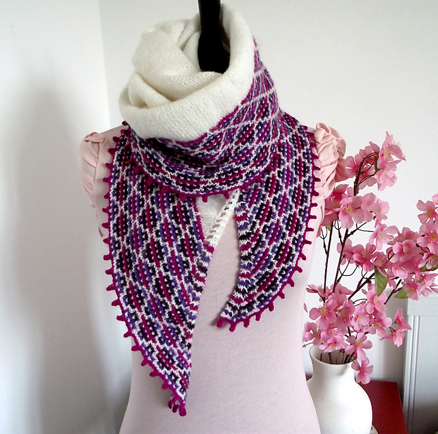 Indie Design Gift Along 2018 Shawls knit mosaic