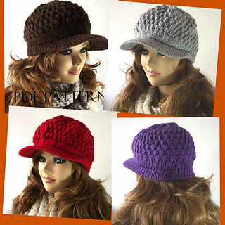 Ravelry  Claire Newsboy Hat pattern by Lilia Vanini 9864ba9a30a5