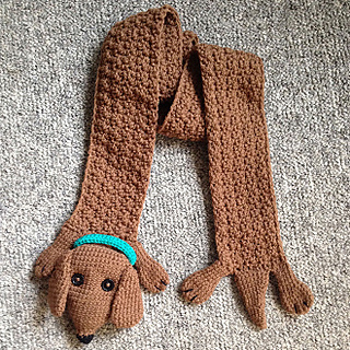 Ravelry Wiener Dog Crochet Scarf Pattern By Wienerwares Com