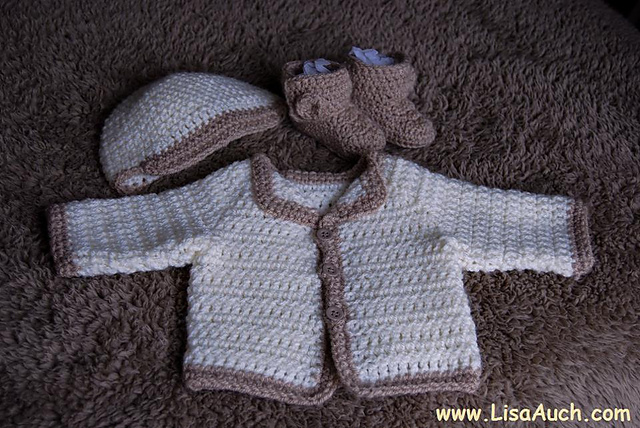 Ravelry Megans Easy Crochet Baby Cardigan Pattern By Lisaauch