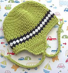 974a937141c Ravelry  Baby Boy Earflap Striped Hat pattern by Lisa Corinne Crochet