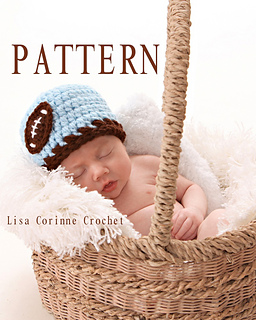 c18a97886cf Ravelry  Boy Beanie Hat with Football Applique pattern by Lisa Corinne  Crochet