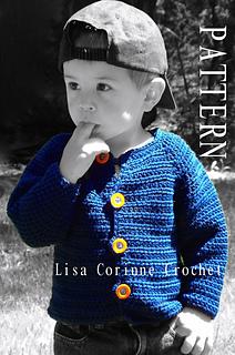 7bfd5b5f96a Ravelry  Baby Boy Sweater 36 pattern by Lisa Corinne Crochet
