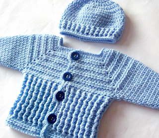 a1ee3be86ff Ravelry  Baby Sweater and Hat 47 pattern by Lisa Corinne Crochet
