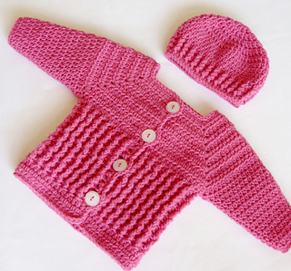 b2a8e8c8506 Ravelry  Baby Girl Sweater and Hat 48 pattern by Lisa Corinne Crochet