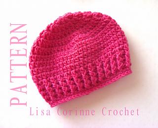 774a689cd67 Ravelry  Girl Newborn Baby Hats 52 pattern by Lisa Corinne Crochet