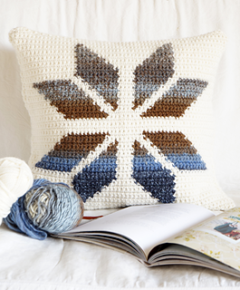 Ravelry: Snowflake Cushion Pattern By Little Doolally