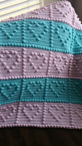 Ravelry Heart Puff Baby Blanket Pattern By Peach Unicorn
