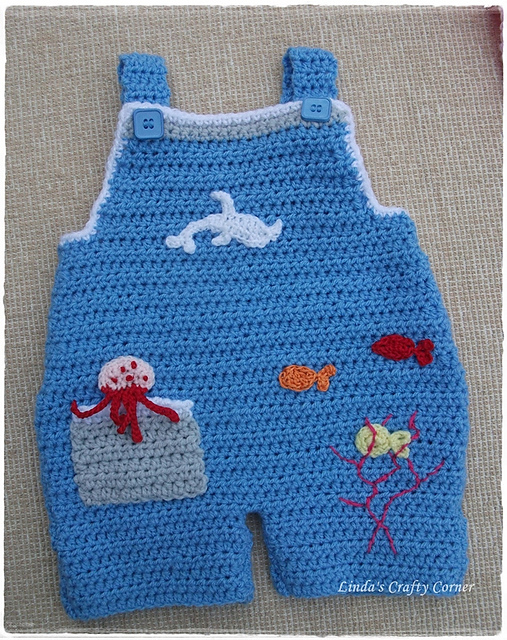 Ravelry Sweet Baby Dungarees Pattern By Linda Solaiman