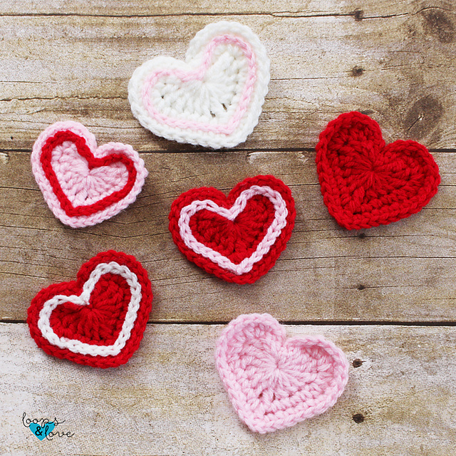 Ravelry Easy Hearts Pattern By Loops And Love Crochet
