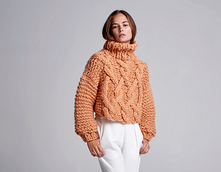 b26525d118 Ravelry  Cropped Fisherman Sweater pattern by Loopy Mango