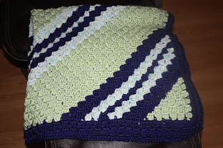 Ravelry Lostartists Diagonal Block Stitch Baby Blanket