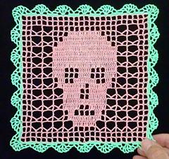 Ravelry Filet Skull Doily Pattern By Maria Merlino