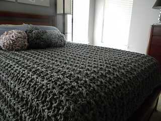 Ravelry: Giant Super Chunky Knit Blanket pattern by Theresa Boyce